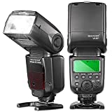 Neewer E-TTL Master Slave Speedlite Flashlight *High-Speed Sync* for Canon Rebel T5i T4i T3i T3 T2i T1i SL1, EOS 700D 650D 600D 1100D 550D 500D 100D 300D 350D 400D 5D Mark III 5D Mark II 7D 30D 40D 50D all Other Canon Models