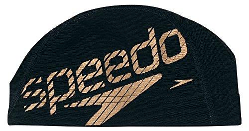 Speedo(スピード) メッシュキャップ SD92C11 ブラック×ゴールド(KD) M