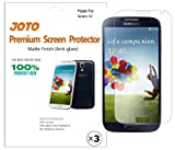 JOTO Premium Screen Protector Film Anti Glare, Anti Fingerprint (Matte Finish) for Samsung Galaxy S4 SIV S IV I9500 with Lifetime Replacement Warranty (3 Pack)