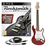 Rocksmith 2014 PS3 + 3/4 LA Electric Guitar Wine Red