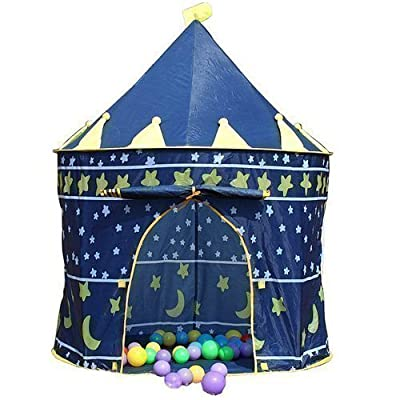 Childrens Blue Pop-Up Wizards Castle Play Tent