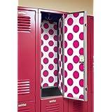 locker designz deluxe magnetic locker wallpaper polka dot