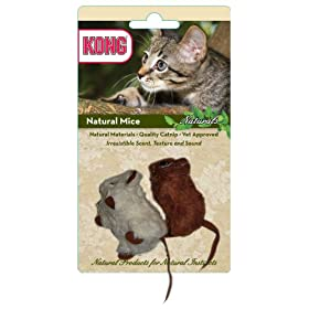 KONG Naturals Natural Mice Cat Toy (Colors Vary)