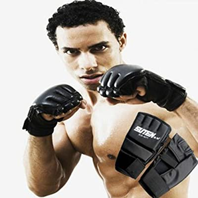 Malloom® Cool MMA Muay Thai Training Punching Bag Half Mitts Sparring Boxing Gloves Gym from Mallon®