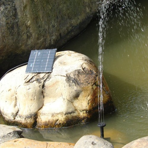 1.2 Watt Solar Power Water Pump Garden Fountain - With Separate Solar Panel and 3.3m Long Cable