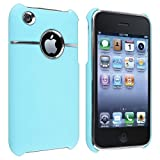eForCity Snap-on Case compatible with Apple iPhone 3G/3GS, Baby Blue with Chrome Hole Rear