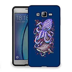 Snoogg Octopus And Shark Designer Protective Back Case Cover For SAMSUNG ON 7