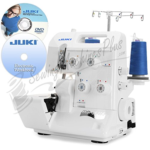 Juki Pearl Line MO-654DE 2/3/4 Thread Overlock Serger with BONUS Items Includes: Juki Electronic Workbook CD and Juki Instructional DVD Video (Sergers Juki compare prices)