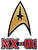 Star Trek NX-01 Enterprise Logo + Star Trek TOS 1st and 2nd Season Starfleet Command Patch 3