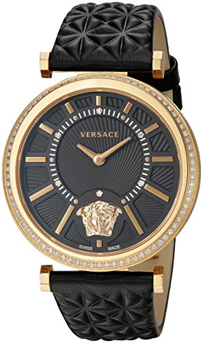 Versace-Womens-VQG050015-V-HELIX-Analog-Display-Swiss-Quartz-Black-Watch