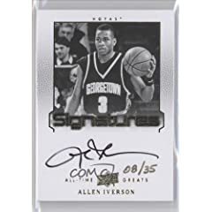 Allen Iverson 35 #8 35 (Basketball Card) 2013 Upper Deck All-Time Greats Signatures...