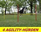 4 X AGILITY-ÜBUNGS-HÜRDEN-SET IN ROT