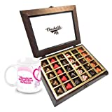 Valentine Chocholik Belgium Chocolates - Stylish Personalised Love Chocolates With Love Mug