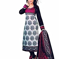 Shree Hari Creation Women's Poly Cotton Unstitched Dress Material (3850_Multi-Coloured_Free Size)