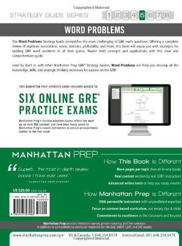 Manhattan Prep: Word Problems GRE Strategy, Guide 5 (Manhattan Prep Gre)
