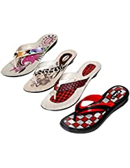 Krocs Super Comfortable Combo Pack Of 3 Pair Flip Flop With 1 Pair Slippers For Women (Pack Of 4 Pair) - B01JSF0RUK