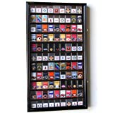 99 Zippo Lighter Display Case Cabinet Holder Wall Rack w/ UV Protection -Black (Color: Black)