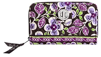 Vera Bradley Turn Lock Wallet in Plum Petals