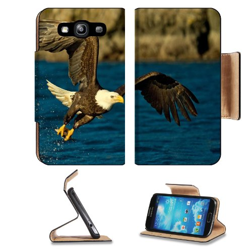 Flight Wings Eagle Spray Bird Water Samsung Galaxy S3 I9300 Flip Cover Case With Card Holder Customized Made To Order Support Ready Premium Deluxe Pu Leather 5 Inch (132Mm) X 2 11/16 Inch (68Mm) X 9/16 Inch (14Mm) Liil S Iii S 3 Professional Cases Accesso
