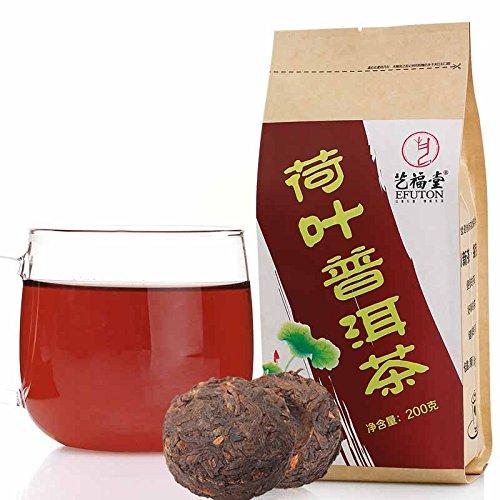 Lotus Leaf Pu-Erh Tea Bags 200G Efuton Chinese Natural Organic Flora Herbal Tea Convenient