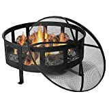 Sunnydaze-30-Inch-Bravado-Mesh-Wood-Burning-Fire-Pit-with-Spark-Screen