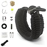 BENGKU Outdoor Multi-purpose Survival Paracord Bracelet Kit for Camping & Hiking (Black)