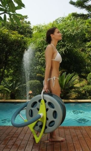 New Home & Garden Swimming Pool Self-Standing Base Vacuum Hose Reel Equipment front-248487