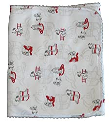 Kissy Kissy Baby-Boys Infant Sparky Print Burp Pad-White-One Size