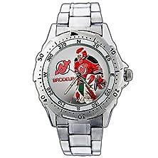 buy Men'S Wristwatches Pe01-2022 New Jersey Devils Martin Brodeur Stainless Steel Wrist Watch