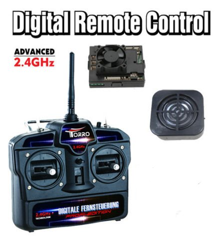 2.4Ghz Radio System for 1/16 RC Tanks (Transmitter and Receiver) + Upgrade Speaker with Batter Sound system