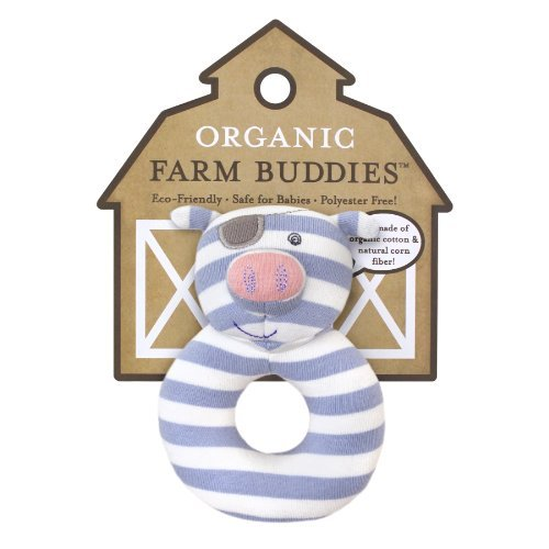 Organic Farm Buddies Rattle, Pirate Pig Color: Pirate Pig Toy, Kids, Play, Children front-717934