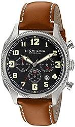 Stuhrling Original Men's 584.01 Monaco Analog Display Quartz Brown Watch
