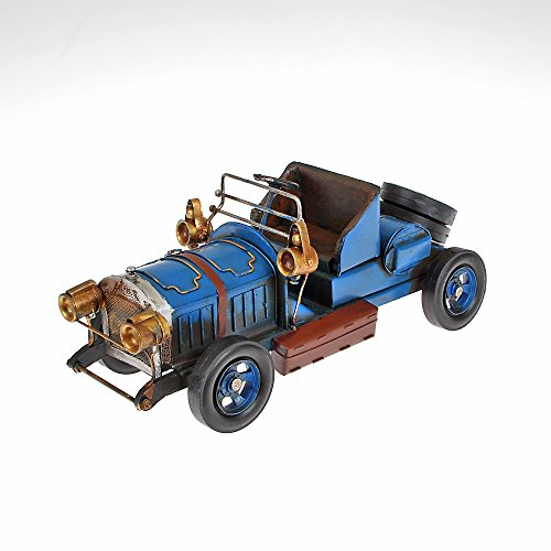 Metal Model Large Oldtimer Cabrio Approx. 33x 14cm x 13cm blue