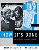 How It's Done: An Invitation to Social Research (with InfoTrac®) (053458814X) by Adler, Emily Stier
