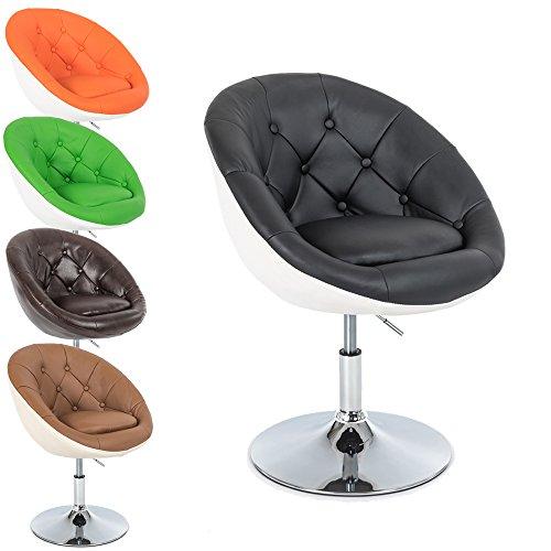 Lounge-Sessel-Gottfried-2-farbig-Cocktailsessel-Barstuhl-Retro-Drehstuhl-Chesterfield-Look-hhenverstellbar-in-vielen-Farben-Gre-M-Schwarz-Wei
