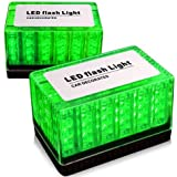 Ediors 1 x Magnetic Roof Top 48 Green Light LED Emergency Hazard Warning Tow Blinker Strobe Light Lamp Roof Top Flashing Lamp Universal For Toyota Honda BMW Audi Benz Nissan Chevrolet