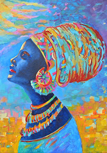 black-woman-poster-afro-wall-decal-print-a4-a3-africa-decor-art-blue-yellow-oil-painting-for-room-de
