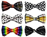 Cloris Small Boys Neck Bow Tie Adjustable Mixed Lot (6 Pack)