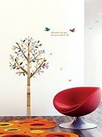 Ambiance Live Vinilo Decorativo Tree and birds Multicolor