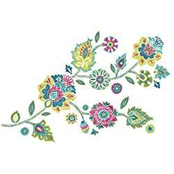 RoomMates RMK2468GMBoho Floral Peel and Stick Giant Wall Decals