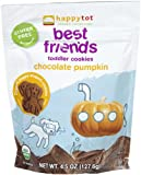 Happy Tot Best Friends Organic Toddler Cookies, Chocolate Pumpkin, 4.5 Ounce