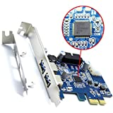 Optimal Shop 2 Port USB3.0 USB 3.0 to PCI-E PCI Express Card Adapter Converter w/ Motherboard 20P 20 pin Connector & Low Profile Bracket, NEC Renesas D720201 Chipset