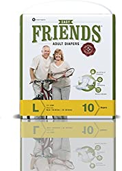 Friends Adult Diaper (Basic) - Large (10 Count)