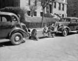 1937 photo Washington youngster solves parking problem. Washington, D.C., Mar g8