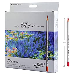 sunyou Fine Art Colored Pencils Adult Children Drawing Sketch Coloring Book Pencils, 72-Count