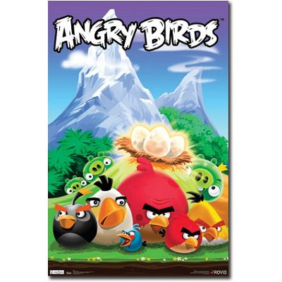 Angry Birds Action Video Game Poster Print - 22x34