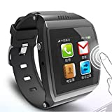 Meiego Bluetooth Smart Watch WristWatch UWatch + Watch Cell Phone Mobile Touch Screen Pedometer Camera vibrating alert Fit for Smartphones IOS Android Apple iphone 4/4S/5/5C/5S Android Samsung S2/S3/S4/Note 2/Note 3 HTC Sony Blackberry (Black)