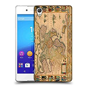 Snoogg World Map Designer Protective Back Case Cover For SONY Z4 COMPACT