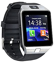 Gazen silver Silicon Analog-digital Smartwatch with camera and memory card slot