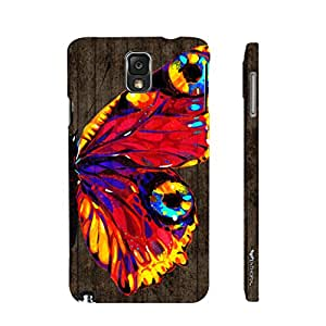 Enthopia Designer Hardshell Case Butterfly on a Brown Wall Back Cover for Samsung Galaxy Note 3